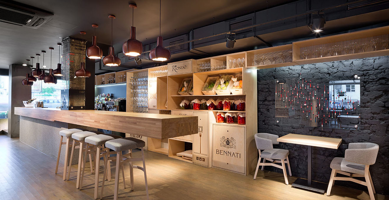 Интерьер европейского ресторана